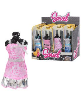 Наряд для куклы 9926-C на листе, 9,5-26,5-2,5 см, 24шт в ассортименте в дисплее, 35-27,5-16см