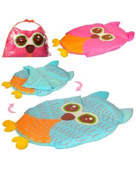 Коврик для младенца PF806 сова, 102-76см,спальный мешок,в ассортименте, в сумке,74-54-7,5 см