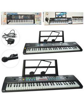 Синтезатор от сети, 61 клавиши, микрофон, запись демо, 16 тонов, в ассортименте, в кор. 78х20х7 см