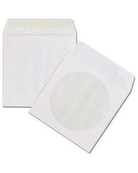 Конверт с окошком для CD диска, белый