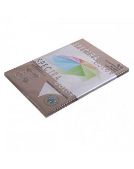 Бумага цветная А4 100 листов, 80 гр/м2, темный, темно - коричневый «Chocolate43А» SPECTRA COLOR