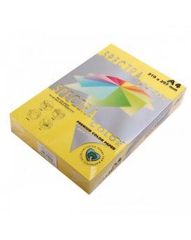 Бумага цветная А4 250 листов, 160 гр/м2, интенсив лимон «Lemon 210» SPECTRА COLOR