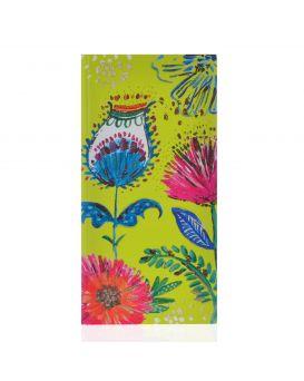 Блокнот 100*200, 64 л., в клетку, интег., фольга золото+глиттер золото «Bon Cote. Flower» YES.