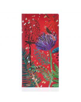 Блокнот 100*200, 64 л., в клетку, интег., фольга золото+глиттер золото «Bon Cote. Red flower» YES.
