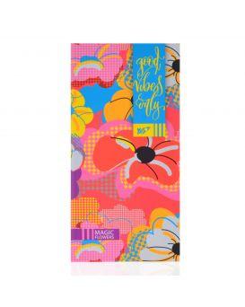 Блокнот 100х200 мм, 64 л., линейка, интег., неон+софт-тач лак «Floral vibes» ТМ YES
