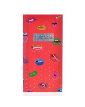 Блокнот 100*200, 96 л., в клет., интег., фольга голограф.серебро+УФ-виб. «Turnowsky. Pattern lips»