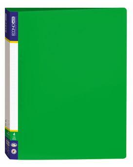Папка пластиковая А4 Economix на 4 кольца, зеленая.