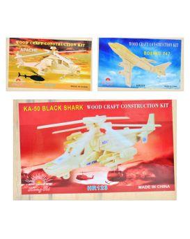 Деревянная игрушка Пазлы 3D MD 0469 в ассортименте (воздушный транспорт), 37-23см
