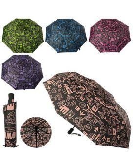 Зонт MK 1654 длина56см,диаметр100см,спица55см,полуавт,ткань,чехол,в ассортименте,шаров,30-6-6