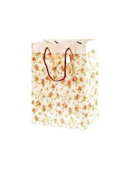 Пакет картоний с уф лаком розы + бантик, 266 х 350 х 114 см, 250 г/м3