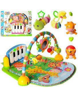 Коврик для младенца PA318 подвес5шт(1в-зерк),дуга,пианино,муз,св,в ассортименте,на бат,в кор.67-48-