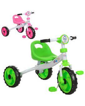 Велосипед M 3254 3колеса,колесаEVA,д77-ш50-в57см, в ассортименте (розовый, зеленый),
