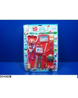 Набор «Доктор» стетоскоп, шприц, градусник, ножницы, на планшетке 35х26 см