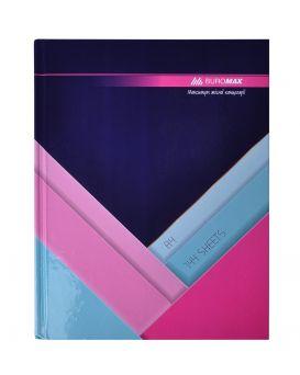 Книга учета А4 «MODEST» темно - синяя, в клетку, офсет, твердая ламинированная обл. 144 л.