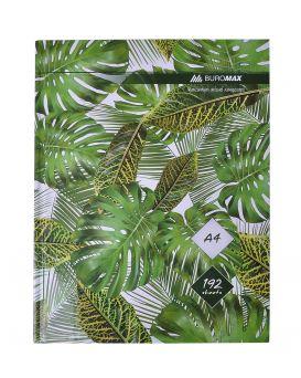 Книга учета А4 «FLORISTICA» зеленая, в клетку, офсет, твердая ламинированная обл. 192 л.