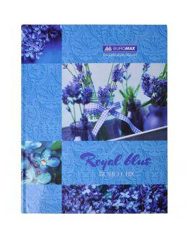 Книга учета А4 «BOHO CHIC» синяя, в клетку, офсет, твердая ламинированная обл. 96 л.