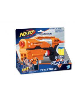 Бластер «Nerf» на батарейке, стреляет поролоновыми снарядами, в коробке 23,7х19,7х5,3 см