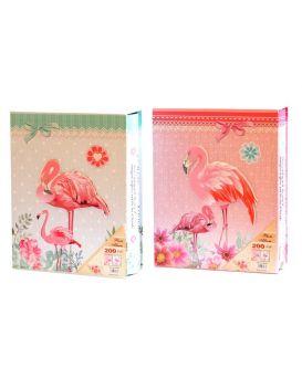 Фотоальбом 200 фото 10 х 15 см «Фламинго» в коробке 26 х 20,5 см