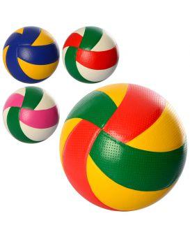 Мяч волейбольный официальный размер, ПВХ, 270х290 гр, в ассортименте, в пакете
