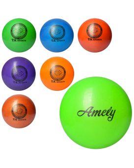 Мяч для фитнеса, гимнастичний, тяжелый, диаметр 19х20 см, 400 гр., в ассортименте, в пакете