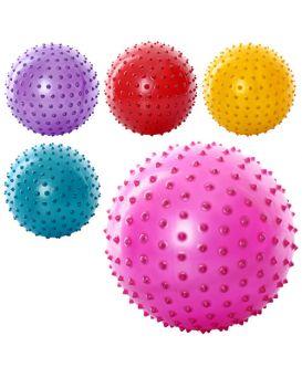 Мяч массажный размер 8 дюймов, ПВХ, 90 гр., в ассортименте