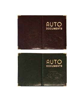 Обложка на автодокументы «AUTO» золотое тиснение 185 х 127 мм