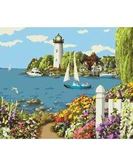 Набор для росписи по номерам «Райский уголок» 40 х 50 см