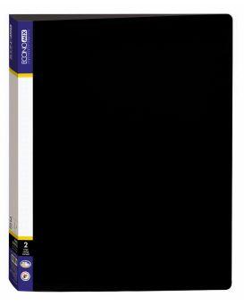 Папка пластиковая А4 Economix на 2 кольца, черная.