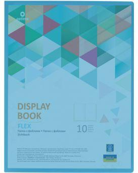 Папка пластиковая А4 с 10 файлами Optima «FLEX» голубая