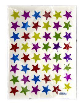 Наклейки детские «Звездочки» 9,5 х 13 см, разноцветные