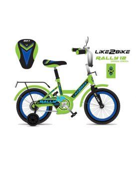 Велосипед детский 2-х колесный 14 дюймов «Like2bike RALLY» салатовый.
