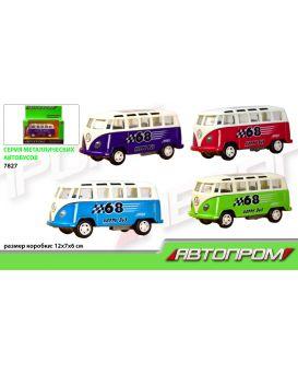 Автобус метал АВТОПРОМ в асортименті , в коробке 12х7х6 см