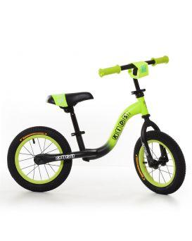 Беговел «PROFI KIDS» резиновые колеса диаметром 12 дюймов, метал. каркас, матовый зелено - черный