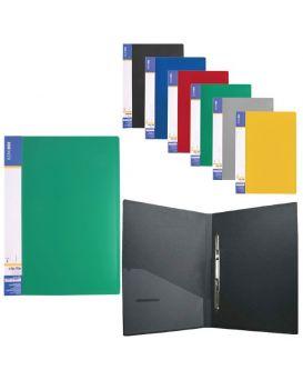 Папка - скоросшиватель А4 с пружинным механизмом, пластиковый карман, Economix«CLIP A»в ассортименте