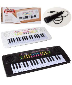 Синтезатор BX-1633AB 42см, 37клавиш,запись демо,микрофон, в ассортименте , на бат,в кор., 42,5-16-5с