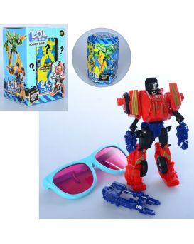 Трансформер «LOL» 14 см, очки, в колбе 15 см, в коробке 10,5х16х9,5 см