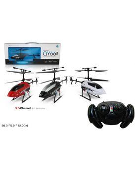 Вертолет на радиоуправлении, гироскоп, свет, в ассортименте, в коробке 30х5х12 см