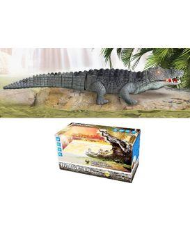 Крокодил на батарейке, музыкальный, свет, звук, в коробке