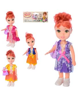 Кукла 21 см, на батарейке, музыкальная, с сумочкой, в ассортименте, в пакете 11,5х29х5 см