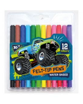 Фломастеры 12 цветов «M-Trucks»