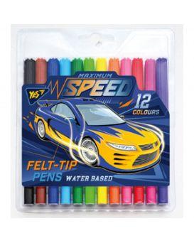 Фломастеры 12 цветов «Speed car»