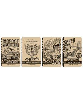 Дневник 48 л., твердая обложка 7БЦ, крафт+пантон, одноцветный блок, 143х215 мм, диз.1901-1904