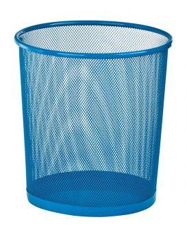 Корзина металлическая, круглая 26,5х26,5х28 см, синяя