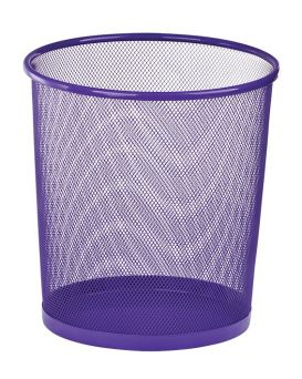 Корзина металлическая, круглая 26,5х26,5х28 см, фиолетовая