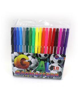 Фломастеры 18 цветов «Goal» Josef Otten