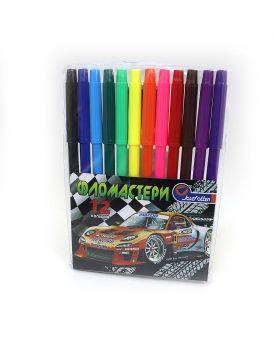 Фломастеры 12 цветов «Racing» Josef Otten