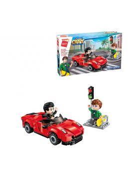 Конструктор Brick «City: Город Супергонка» 158 деталей, в коробке