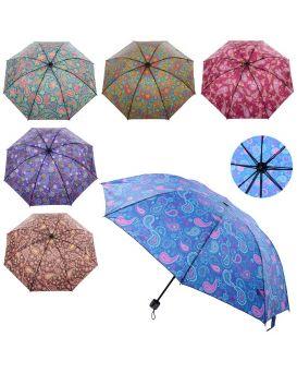 Зонт механический, длина 54 см, диаметр 94 см, спица 52 см, в ассортименте, в пакете 24х5 см
