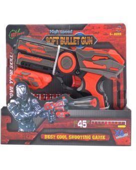 Бластер с поролоновыми снарядами, в коробке 25х25,5х21 см