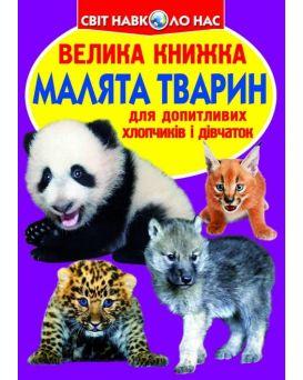 Большая книга «Малыши животных» 240 х 330, мягкая, (укр.)